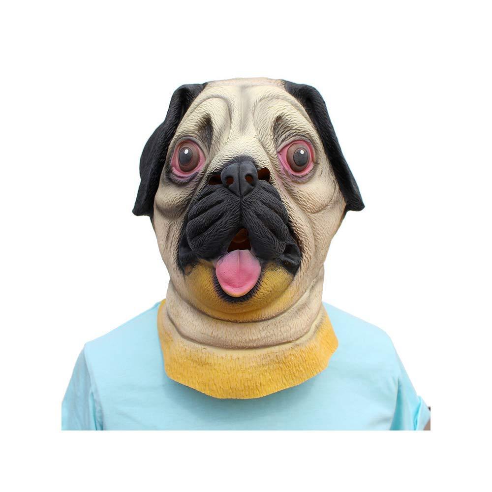 CX TECH Maschera per Cani Testa di Lattice Maschere di Gomma Maschera per Gli Animali Maschera Deluxe Fancy Dress Unisex-Adulto