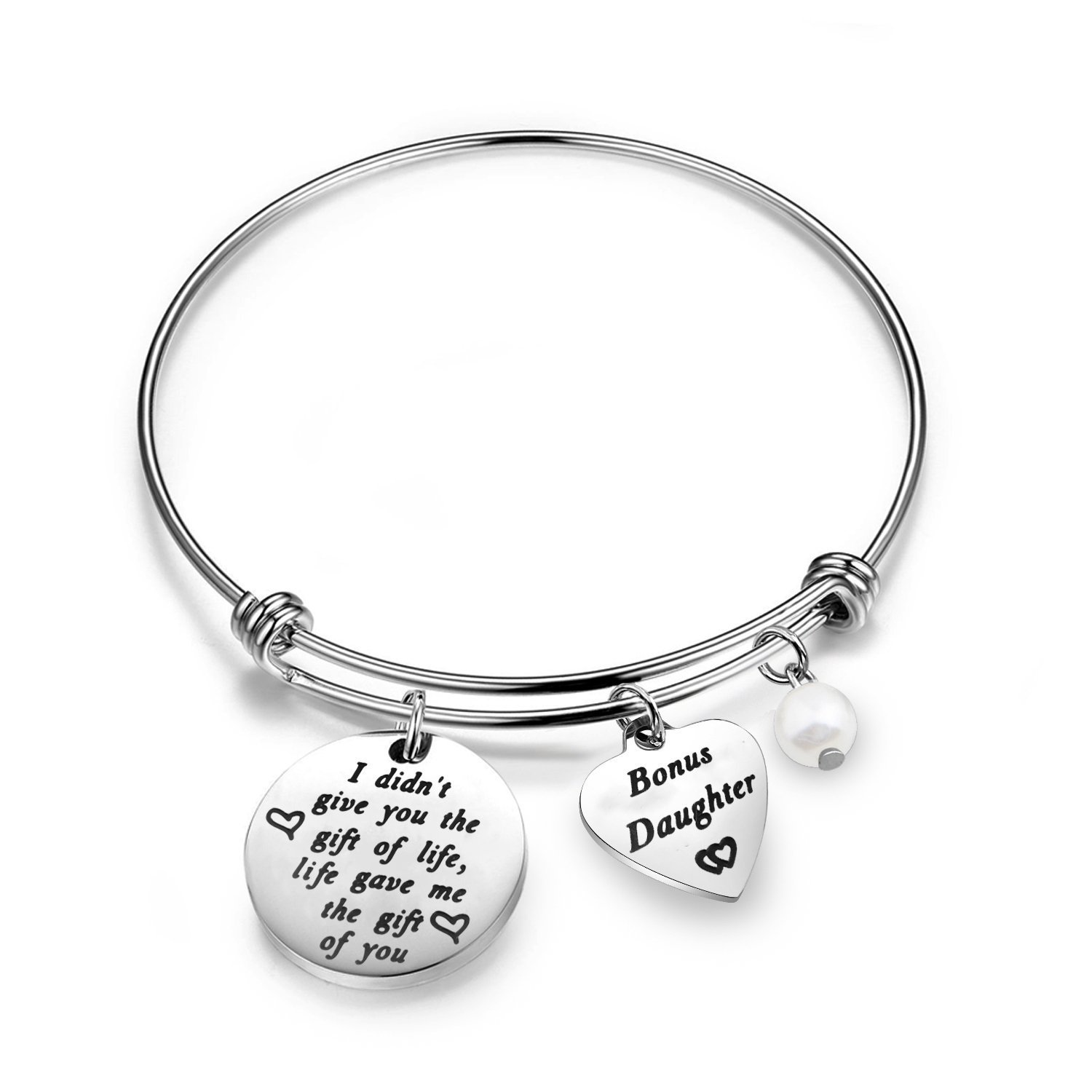 Stepdaughter Gifts Daughter in Law Bracelet I Didn't Give You The Gift of Life Life Gave Me The Gift of You Step Daughter Gifts from Stepmom Zuo Bao