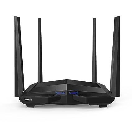 Tenda AC10U Router WiFi inalámbrico (AC1200 Doble Banda 5 GHz a 867 Mbps, 2