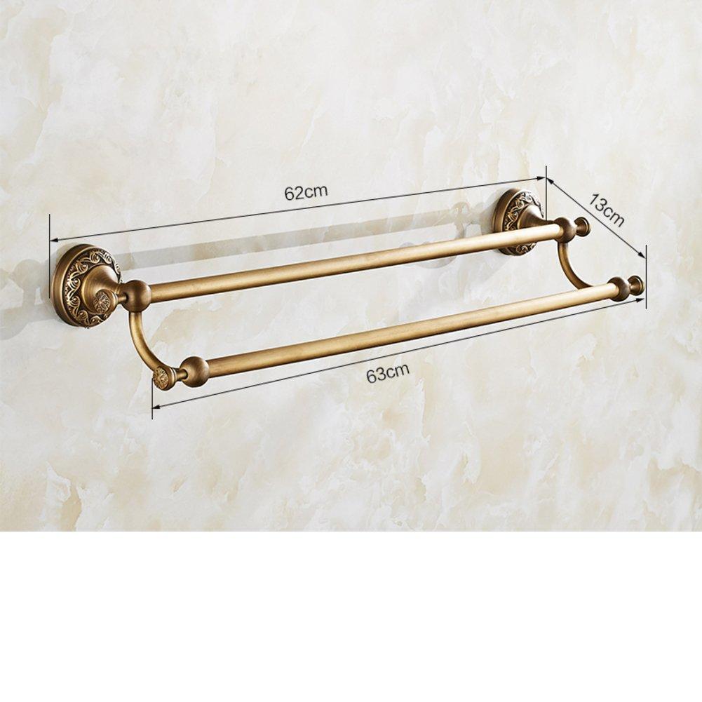 durable modeling antique Towel rack/Copper Towel Bar/Double European ...