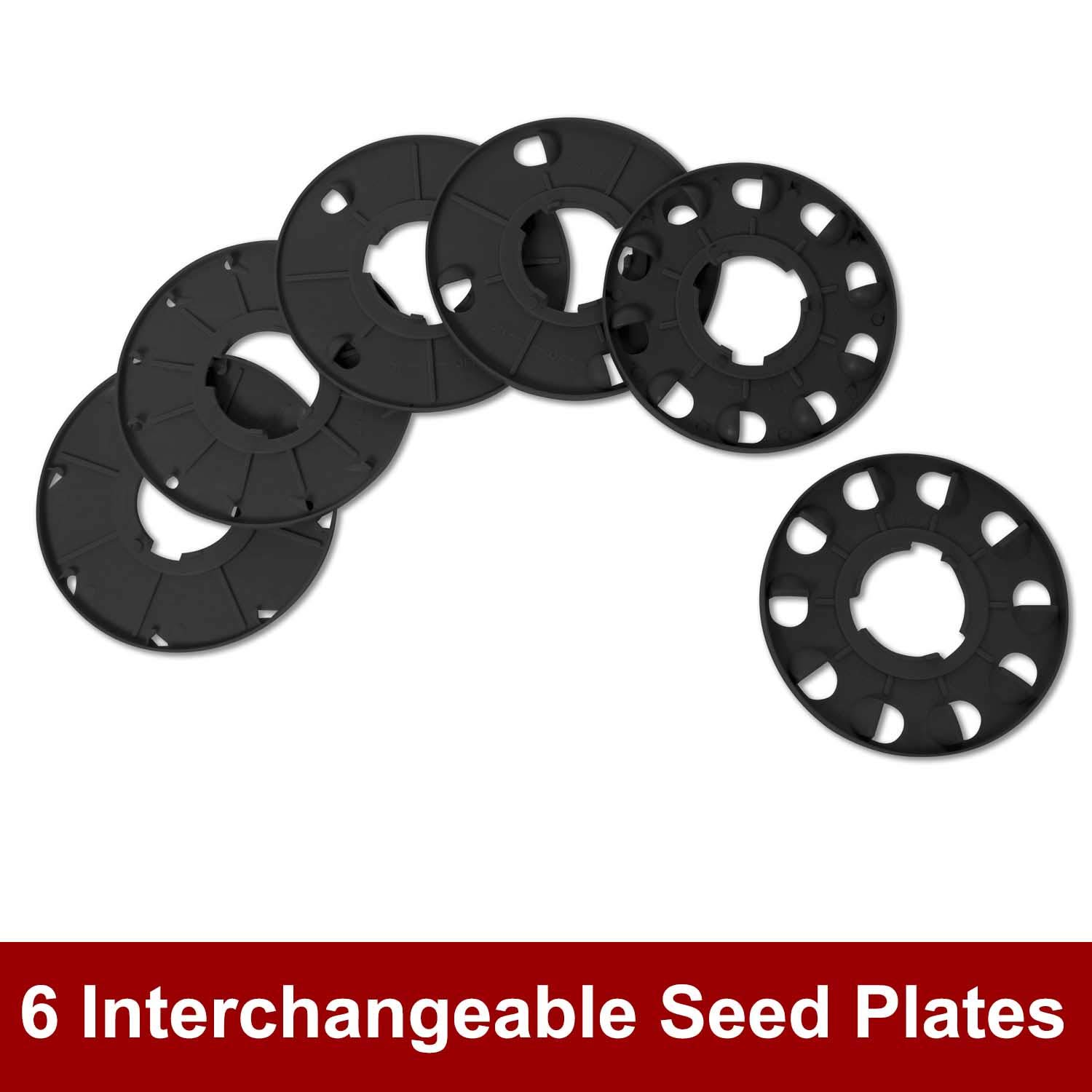 Chapin 8701b Garden Push Seeder With 6 Seed Plates For Up To 20 Varieties Of Seeds 1 Garden Seeder Package