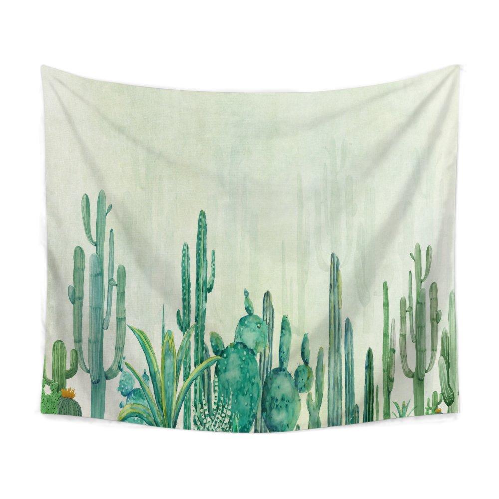 Chengsan Landscape Tapestry Watercolor Headboard, Cactus Wall Tapestry Mandala Tapestry Bohemian Tapestry Cactus Tapestry Indian Wall Decor Hippie Tapestry Headboard Home Decor(3, 59x78 inch)