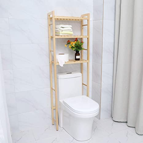 Over Toilet Storage Toilet Shelf Solid Wood Shelving Unit