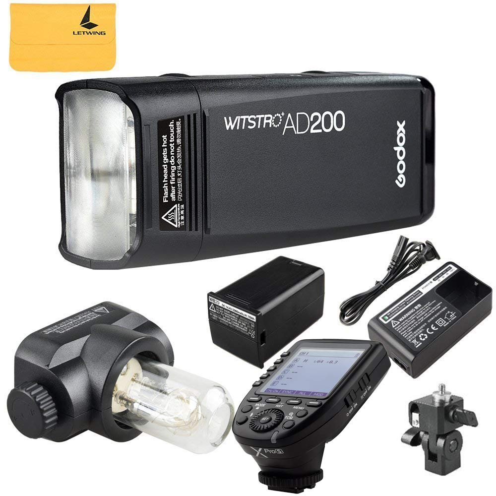 Godox AD200 TTL 2.4G HSS 1/8000s Pocket Flash Light Double Head 200Ws 2900mAh Lithium Battery+GODOX XPro-S TTL Wireless Transmitter Compatible for Sony Cameras by Godox (Image #1)