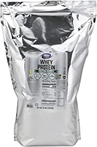 NOW Sports Nutrition, Whey Protein Powder, Vanilla, 10-Pound