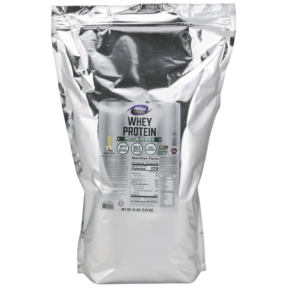 NOW Sports Nutrition, Whey Protein Powder, Vanilla, 10-Pound by Now Sports
