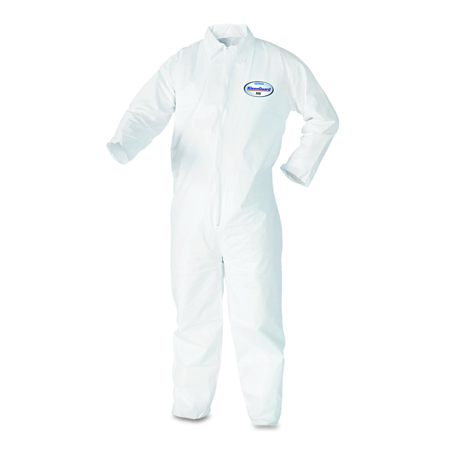 KleenGuard Coveralls A 40 Liquid and Particle Protection Apparel (44305), White, 2XL (XXL), 25 Garments / Case