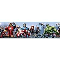 AG Design Marvel Avengers zelfklevende rand, muursticker, folie, meerkleurig, 500 x 10 cm