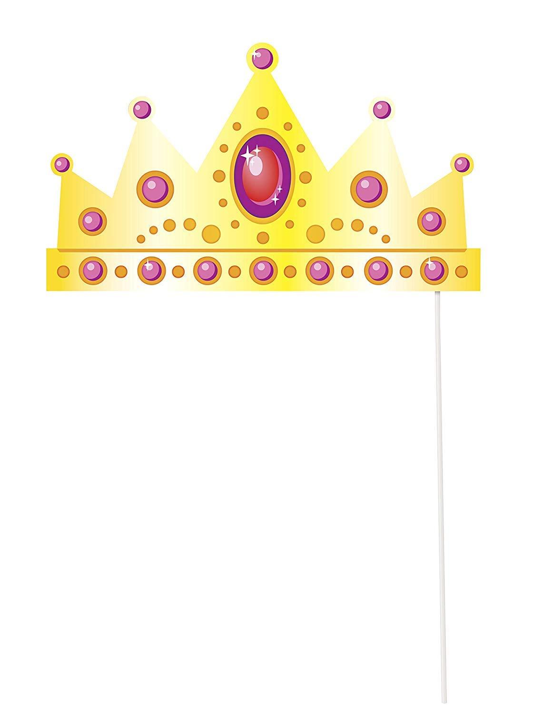 Unique Party- Princess Paquete de 10 accesorios de cabina de fotos ...