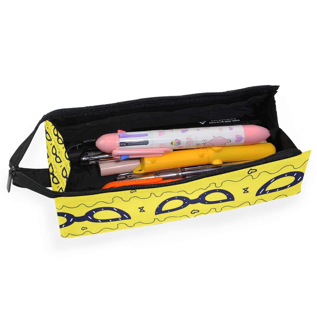 Yellow Summer Glasses Glasses Case Women Men Eyeglasses Bag Pencil Case Pouch