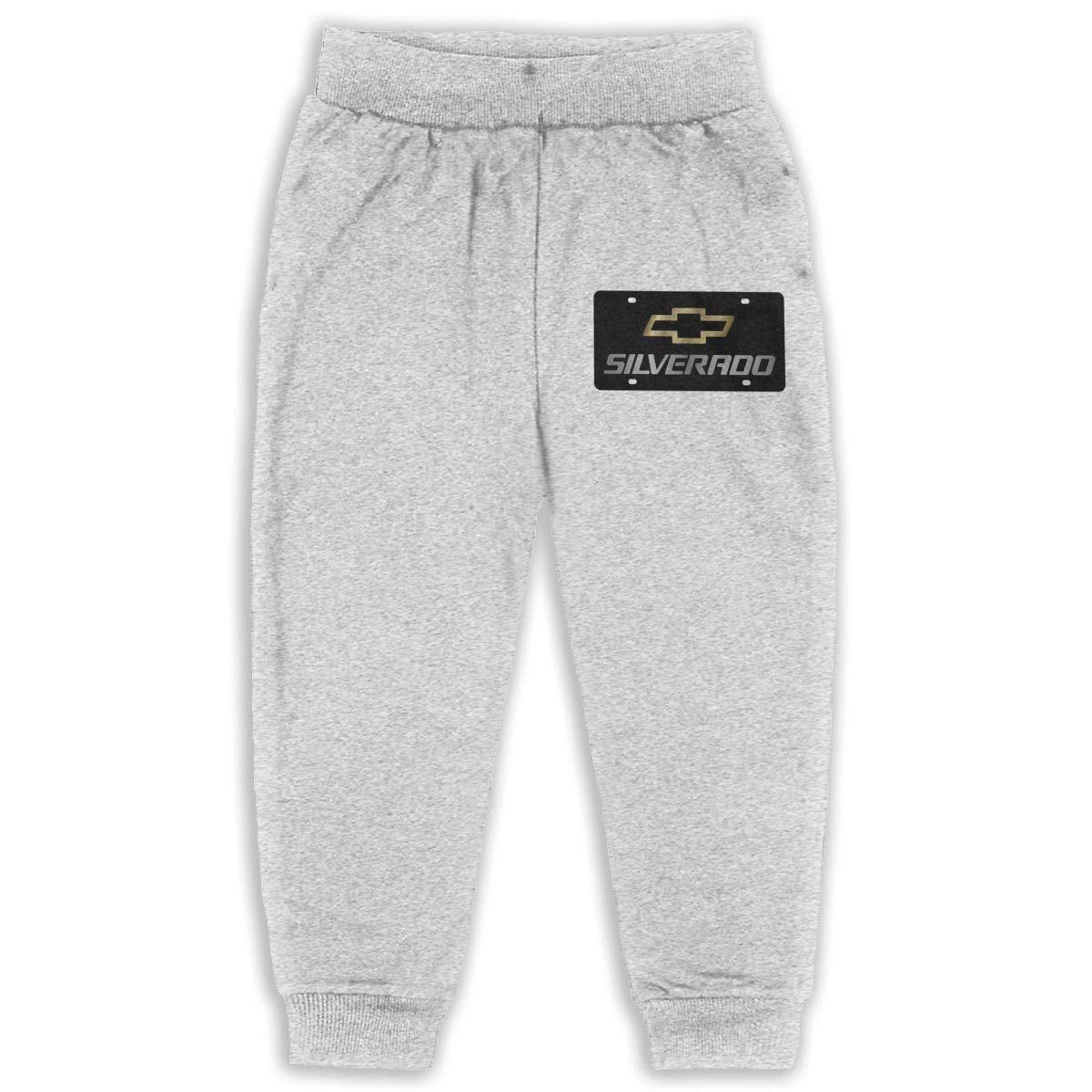 Childrens Sweatpants Chevrolet Silverado Logo Boys and Girls Jogger Long Pants Sweatpants Leggings
