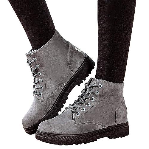 estilo popular buscar auténtico estilos de moda MYMYG Botas de Cordones Ajustado para Mujeres con Estilo ...