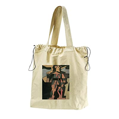 60%OFF Harlequin (Juan Gris) Canvas Drawstring Beach Tote Bag