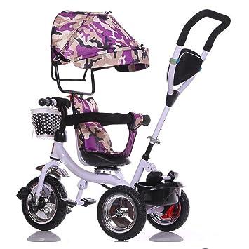 Los niños triciclo bicicleta rotatorio carro carrito bebé ...
