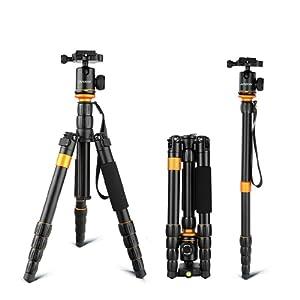 Andoer Professional Photography réglable amovible pliable appareil photo  numérique caméscope vidéo trépied monopode rotule pour Canon 2ae0ce931d70