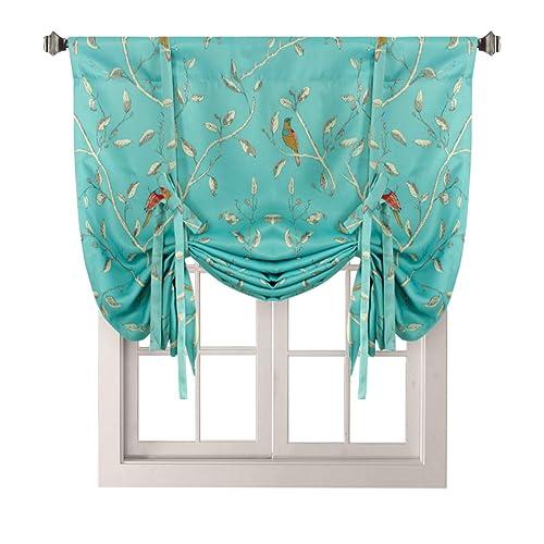 Tie Up Kitchen Curtains: Birds Kitchen Curtains: Amazon.com