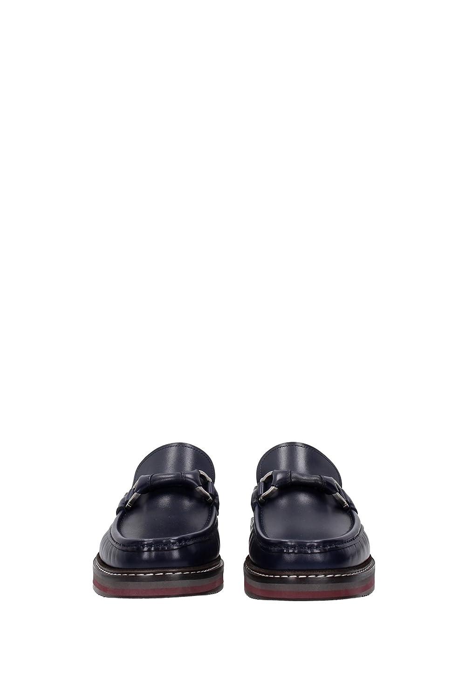 Salvatore Ferragamo - Mocasines de Piel para hombre azul azul, color azul, talla 39 EU: Amazon.es: Zapatos y complementos