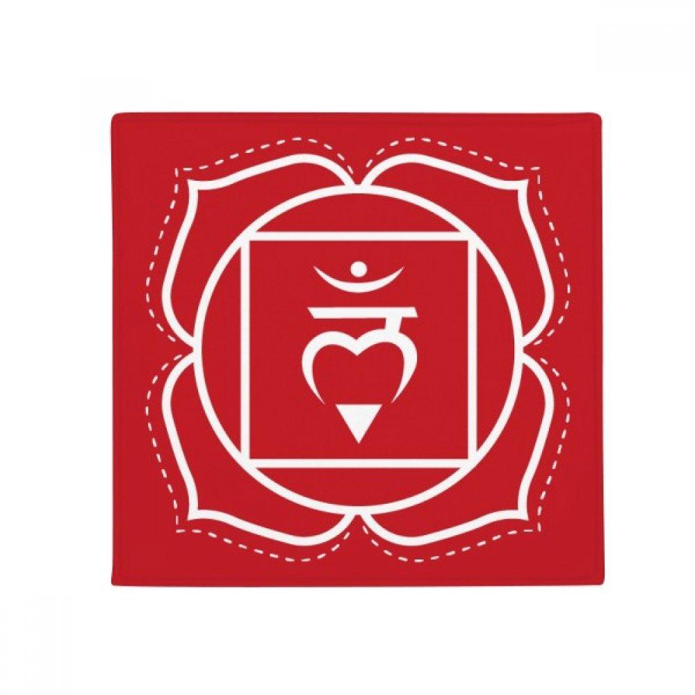 DIYthinker Hum Buddhism Sanskrit Letter Pattern Anti-Slip Floor Pet Mat Square Home Kitchen Door 80Cm Gift