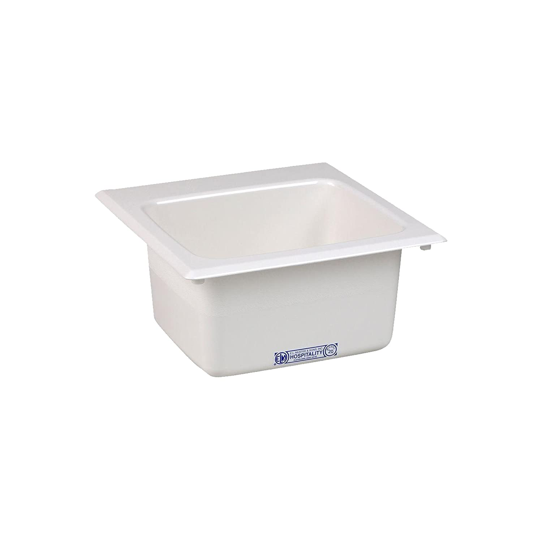 15-Inch x 15-Inch Mustee 20 Bar Sink White
