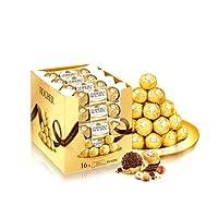 Ferrero 费列罗 Rocher榛果威化巧克力T3*16 48粒装600g(整盒销售)(亚马逊自营商品, 由供应商配送)