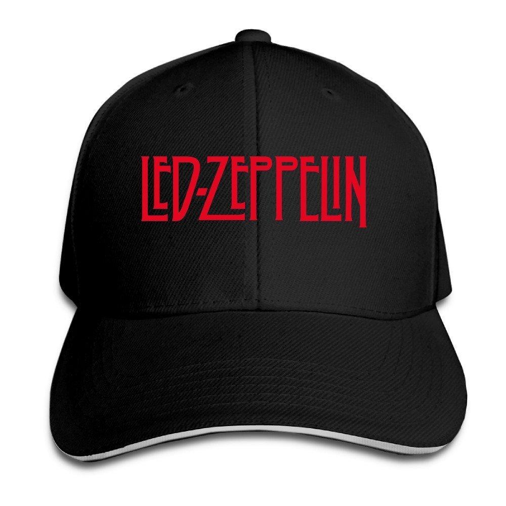 Huseki Led Zeppelin Logo Design Sandwich Baseball Cap Black