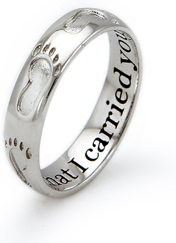 Tioneer Sterling Silber Fußabdruck Ring