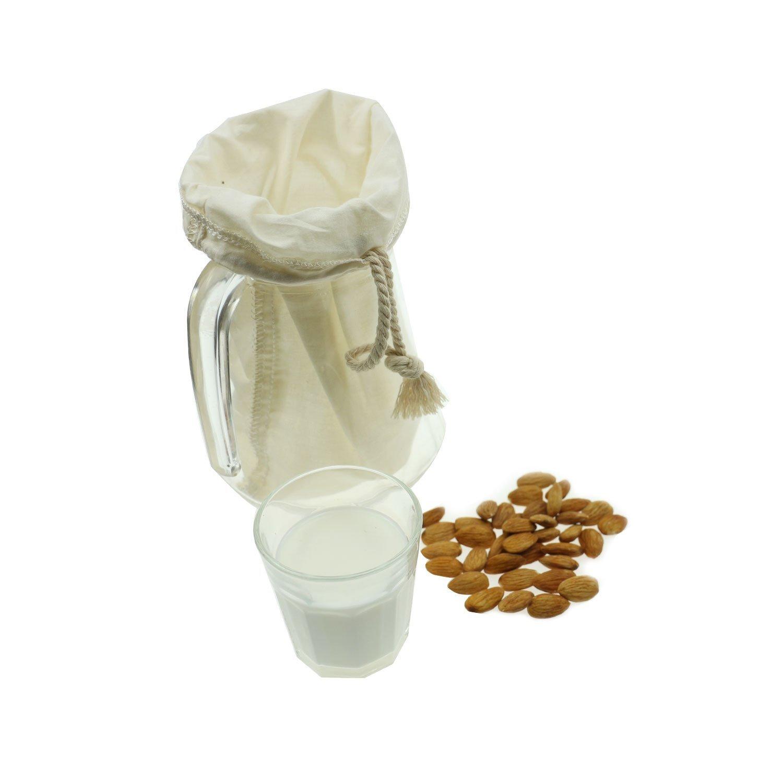 OldPAPA Filtro de Algodón orgánico para zumos y Batidos, para Leche de almendras, Reutilizable 12 x 12 Pulgadas: Amazon.es: Hogar