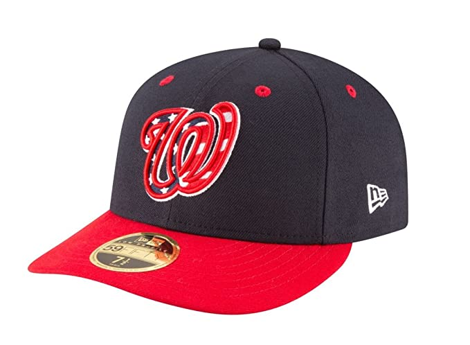 New Era 59Fifty Hat MLB Washington Nationals Low Profile Alt4 Fitted Baseball  Cap (6 7 4fdd2e752c7