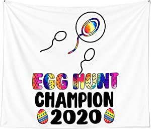 Funny Egg Hunt Pregnancy Announcement Reveal Easter Day Wall Art Tapestries for Dorms Bedroom Living Room Colorful Décor