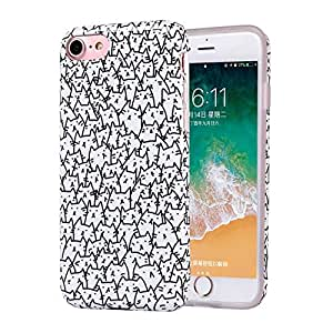 iPhone 6s Case, Cats iPhone 6 Case for Girls, Women Best Protective Cute Clear Slim Glossy TPU Soft Rubber Silicone Black White Cover Phone Case for ...