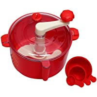 SNAPDOT Plastic Automatic Non Electric Machine Dough , Atta Maker for Kitchen (Small, Red)
