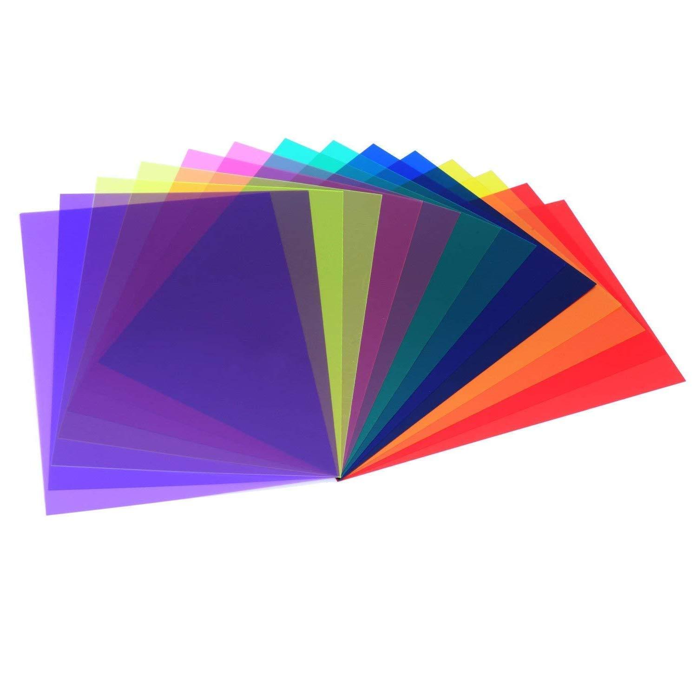 Lvcky - Filtro de Gel Corrector para Colorear de láminas de plástico Transparente, 7 Unidades: Amazon.es: Jardín