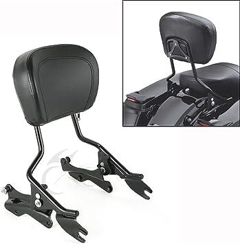 2 point docking kit+New Backrest Sissy bar For Harley Touring 09-13