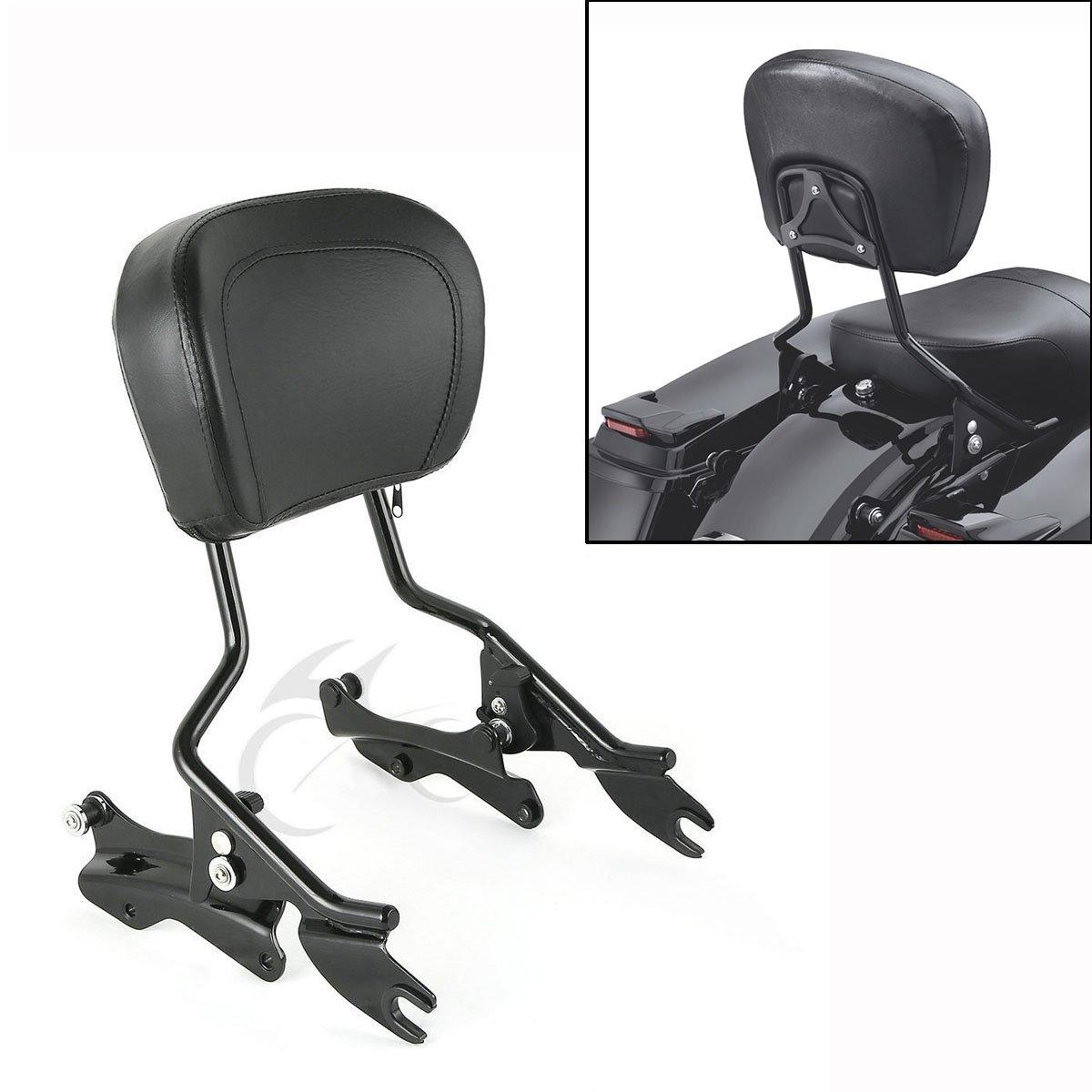 XFMT Backrest Sissy Bar + 4 Point Docking Kit w/Pad For Harley Street Glide 09-13 12
