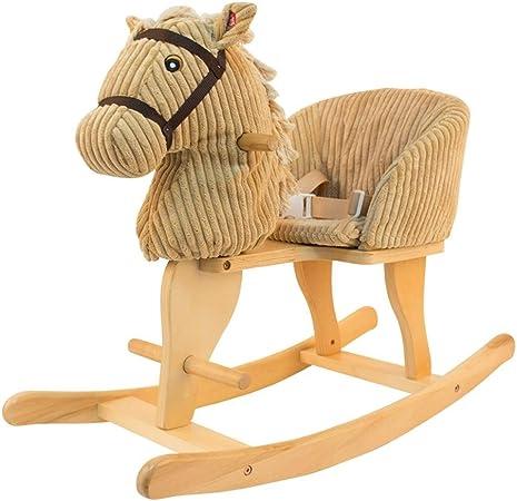 Chaise de loisirs pour enfants Cheval en bois pour enfants