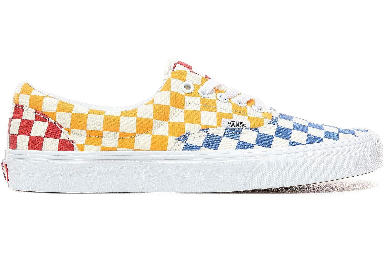 Amazon.com | Vans ERA (Checkerboard) Multi/True White | Fashion Sneakers