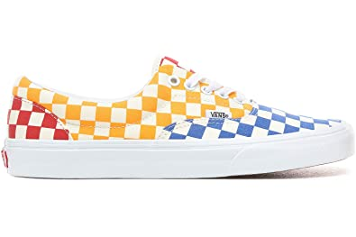 Amazon.com | Vans ERA (Checkerboard) Multi/True White | Fashion Sneakers