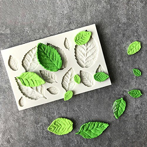 Water Hep Soap Mold Silicone New Arrival Rose Leaves Silicone Soap Mold Kitchen Accessories Cake Mold Gumpaste Candy Cookies Tools Fondant Cake Decoration- ()