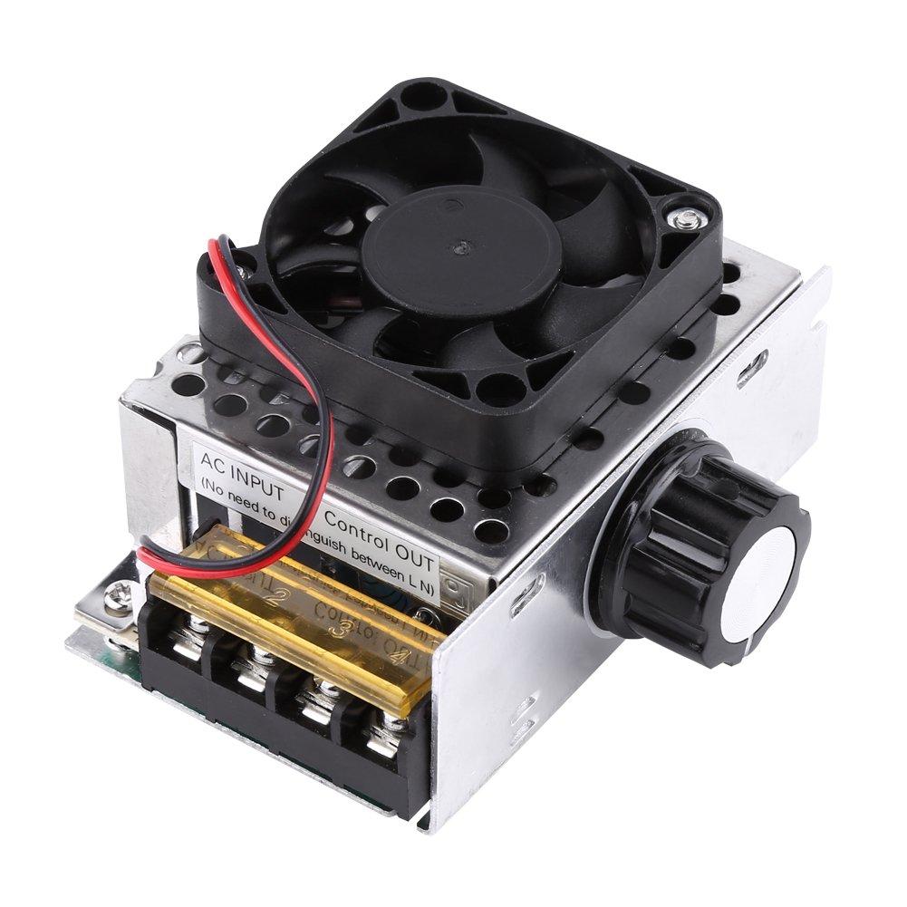 AC 220V 4000W SCR Elektrischer Spannungsregler Ausgangsspannung Stabilisator Transformator Schalter Dimmer Temperatur Motor Drehzahlregler mit L/üfter