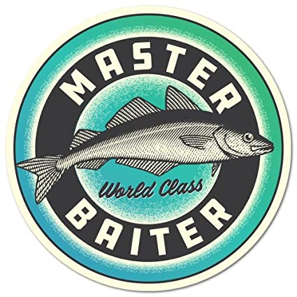 9132574c3 Amazon.com  Master Baiter Fishing Sticker Angler