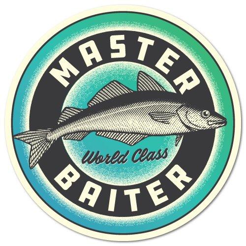 - Master Baiter Fishing Sticker Angler, Off-Shore, Rod Reel