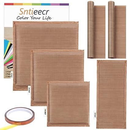 Sntieecr 5 Pack 5 Sizes Heat Press Pillow Heat Pressing Transfer Pillow Heat Resistant Reusable Pillows Heat Press Mat for Heat Press Vinyl and Printing Projects