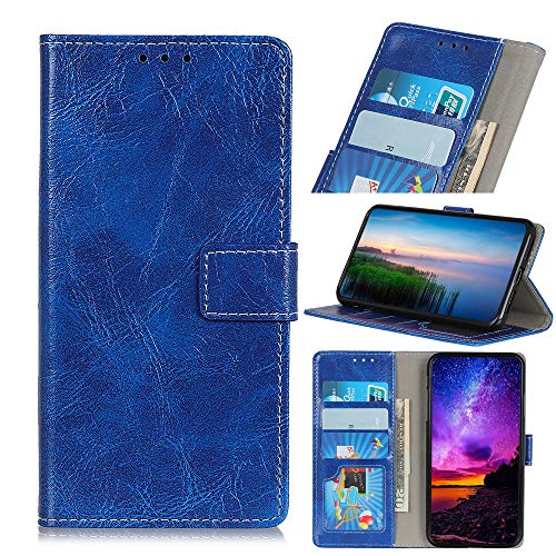 Compatible with Wiko View 3 Lite Case, FugouSell Premium PU Leather [Flip Stand] Slim Wallet Case Full Body Protection Cover for Wiko View 3 Lite (Blue) ()