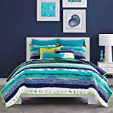 Five Queens Court 1927 Cameron Full Coverlet Cameron Coverlet, Teal