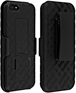 Verizon HOLSTERSHELL-IPSE Shell Holster Combo Case for Apple iPhone 5/5S/Se with Kick-Stand & Belt Clip