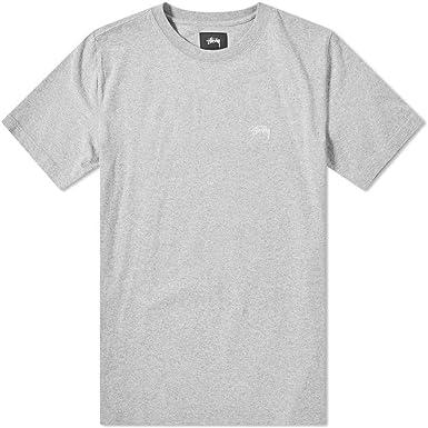 Stussy 1140137GREY - Camiseta de algodón para Hombre, Color Gris - Gris - Talla de Marca L INT: Amazon.es: Ropa y accesorios