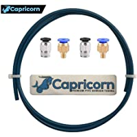 Capricorn XS Series Teflon Tube Bowden PTFE Tubing (1 Meter) with 2Pcs PC4-M6 and 2Pcs PC4-M10 Fittings for Creality Ender 3/Pro Ender 5 CR-10/10S 3D Printer 1.75mm Filament