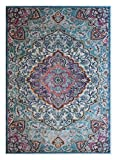 Masada Rugs Multi color Vintage Collection Soft Oriental Area Rug Carpet (5 Feet X 7 Feet, Aqua) Review