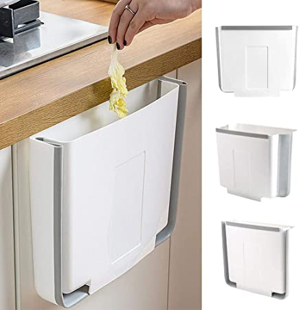 Collapsible Hanging Trash Can Mounted Folding Waste Bin For Kitchen Cabinet Car
