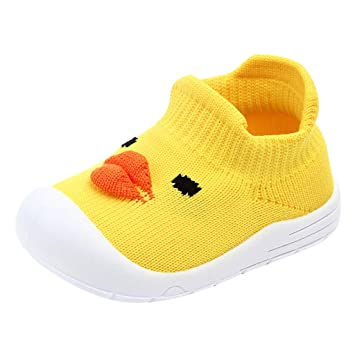 Yellow Trainers 6-12 Months Leather Toddler Shoes Baby Shoes with Soft Sole Baby Walking Shoes